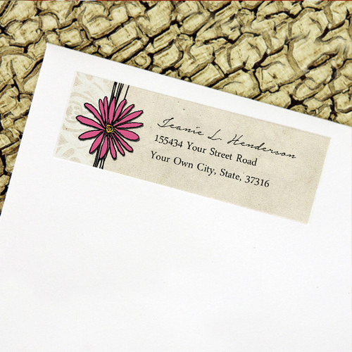 pretty garden themed wedding return address labels