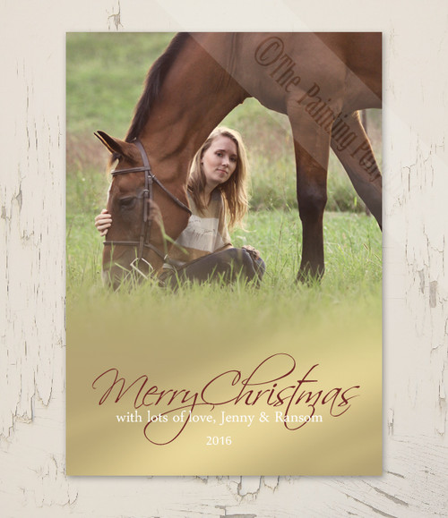 Golden Fade Photo Christmas Card