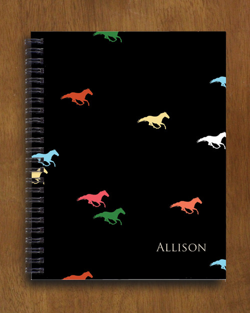 Galloping Horses Spiral Notebook