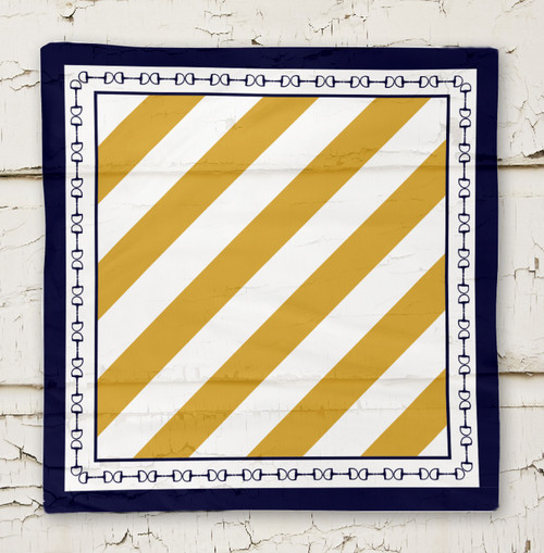 Equestrian themed striped scarf