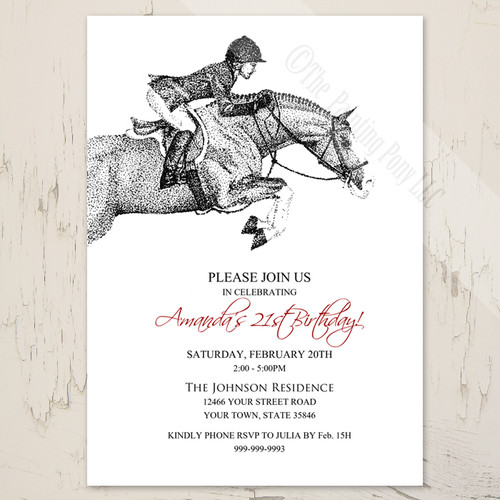 Hunter Pony Birthday Invitation (10 pk)