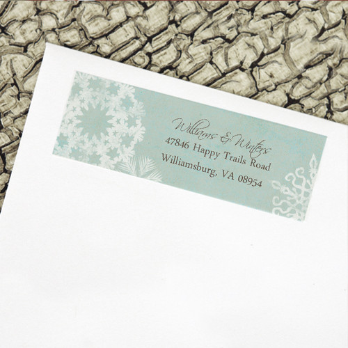 Winter Snowflakes Return Address Labels