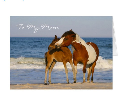 Horse themed mother's day card