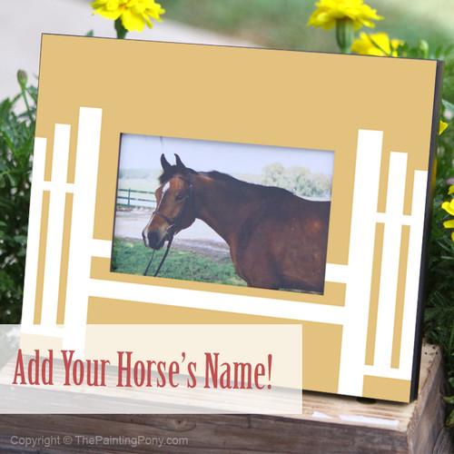 Horse Jump 4x6 Photo Frame