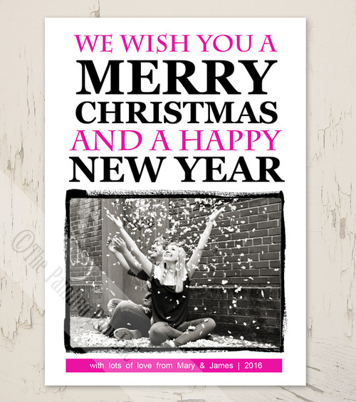 Modern Photo Print Christmas Cards