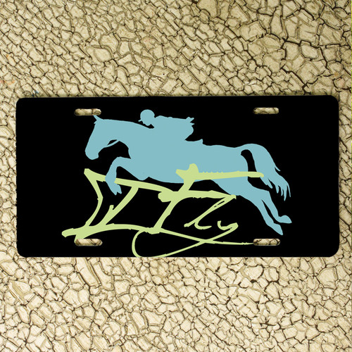 I Fly Hunter Jumper Horse Vanity License Plate
