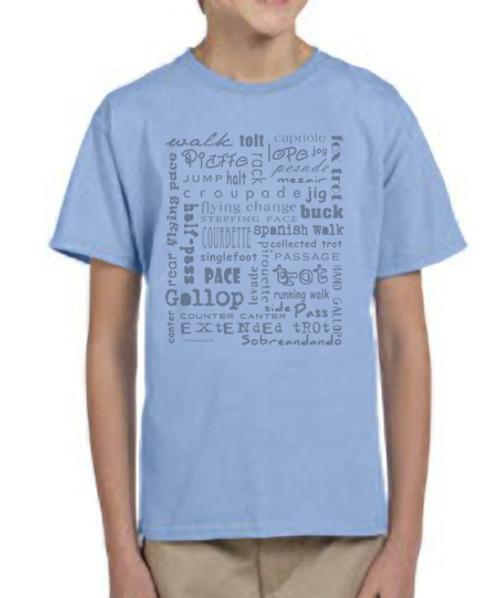 Horse Gaits Kids T-Shirt
