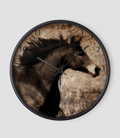 Rustic Horse Head Clock