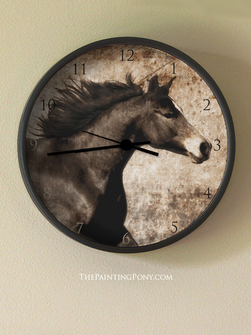 Rustic Horse Head  Wall Clock