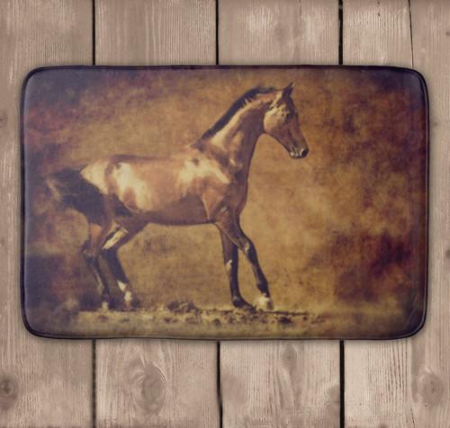 Golden Horse Equestrian Bath Mat