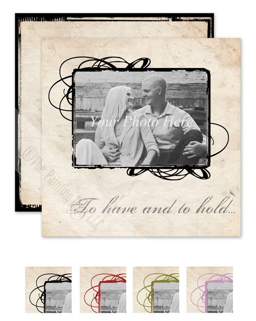 Vintage Photography Rustic Wedding invitation