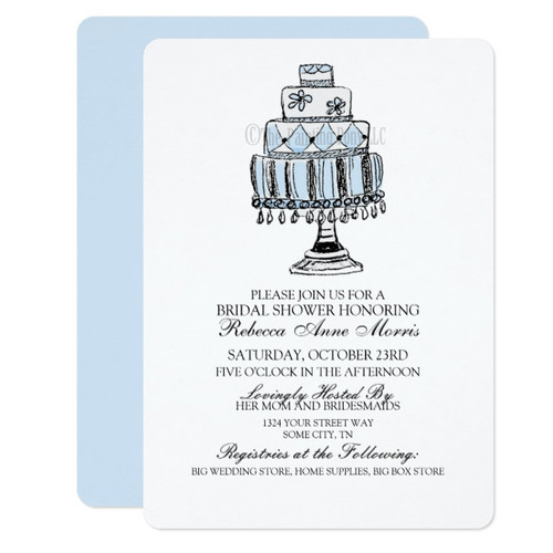 Wedding Cake Bridal Shower Invite