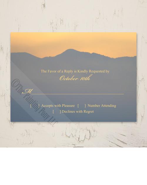 Mountain Sunrise Wedding RSVP card (10 pk)