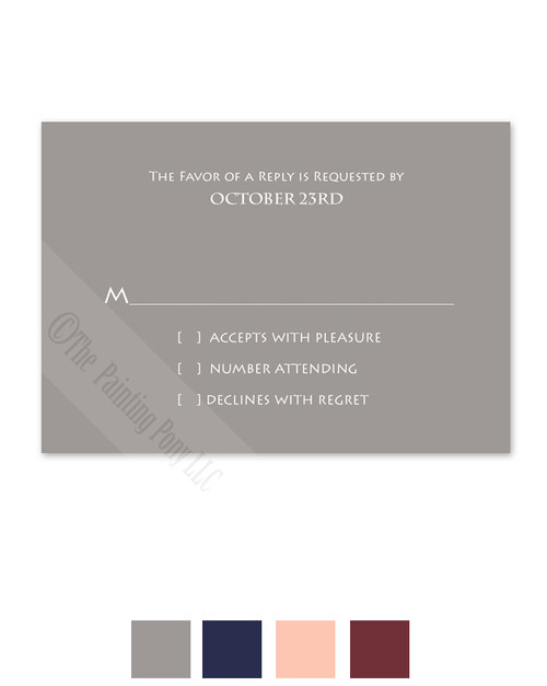 Simple Typography Wedding RSVP card (10 pk)