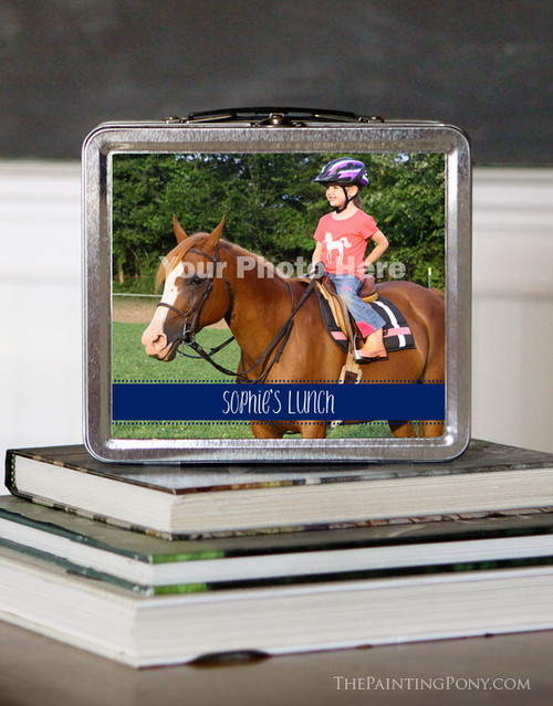 Personalized Horse Photo Equestrian Lunch Box