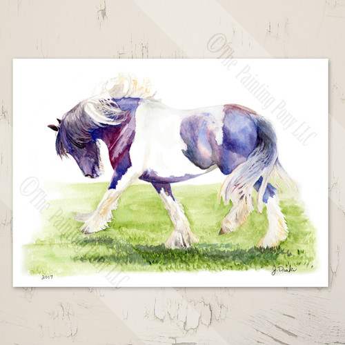 Gypsy Vanner Horse Art Blank Note Cards (10 pk)