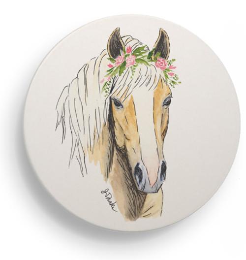Haflinger Horse Sandstone Coasters Set