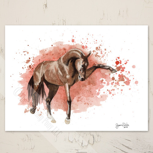 Striking Akhal-teke Horse Note Cards (10 pk)