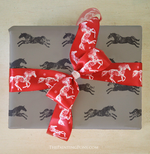 Horse Themed Birthday Gift Wrapping Paper