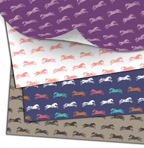 Classic horse patterned gift wrapping paper for any occasion.