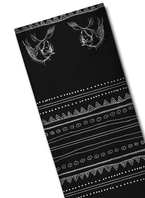 Bohemian Black and White Horse Head Scarf