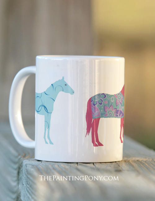Colorful Horses Mug