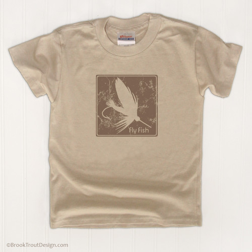 Block Print Fly Kids T-Shirt