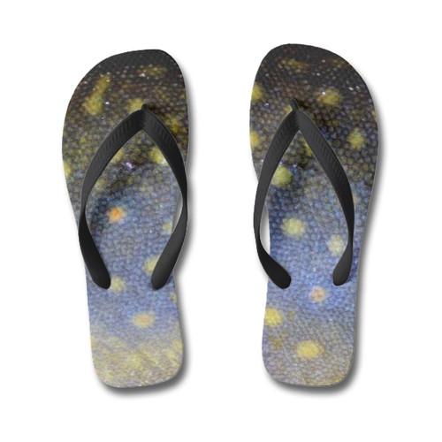Fish skin flip flops