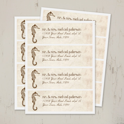 Seahorse return address label stickers
