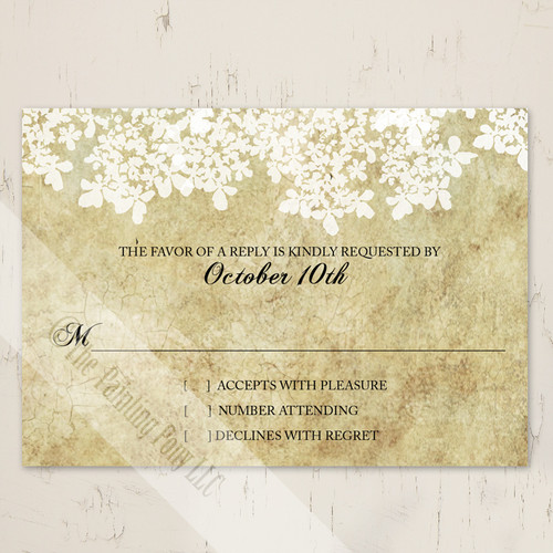 Rustic Southern Country Wedding RSVP card