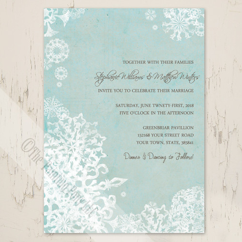 Winter Wedding Snow Frost Invitations