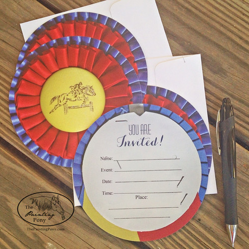 Champion Horse Show Ribbon Birthday Invitation (5 count)