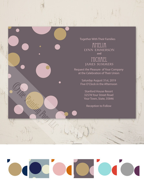 Fun Polka Dots Wedding Invitation (10 pk)