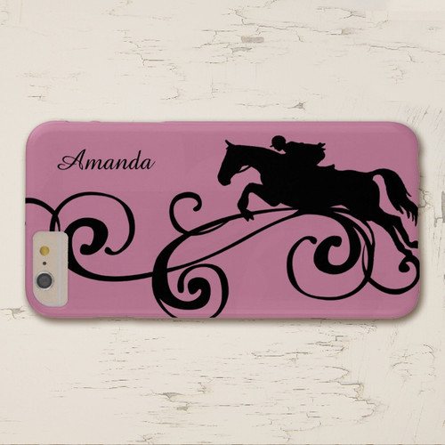 Pink Hunter jumper horse rider personalized Iphone or sumsung phone case