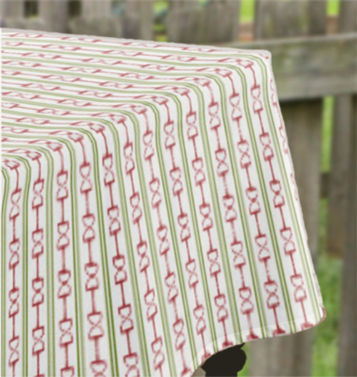 Equestrian Horse Bits and Stripes Festive Christmas Table Cloth