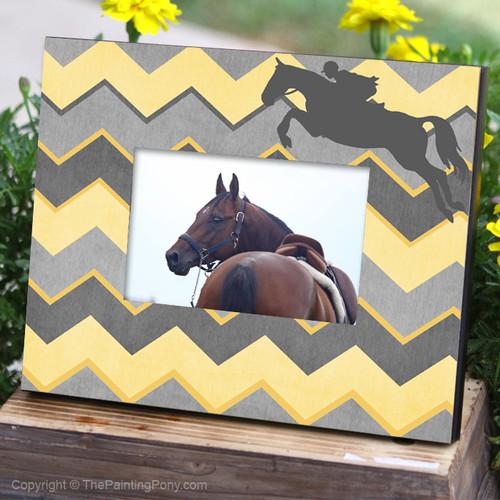 ZigZag Chevron Jumper Horse Equestrian Picture Frame