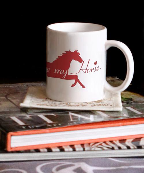 Equestrian Valentines Love Me Love My Horse Coffee Mug