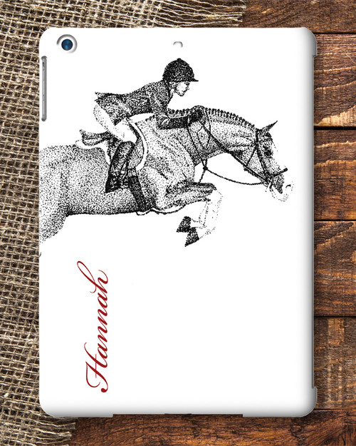 Hunter Jumper Pony Personalized IPad AIR Case