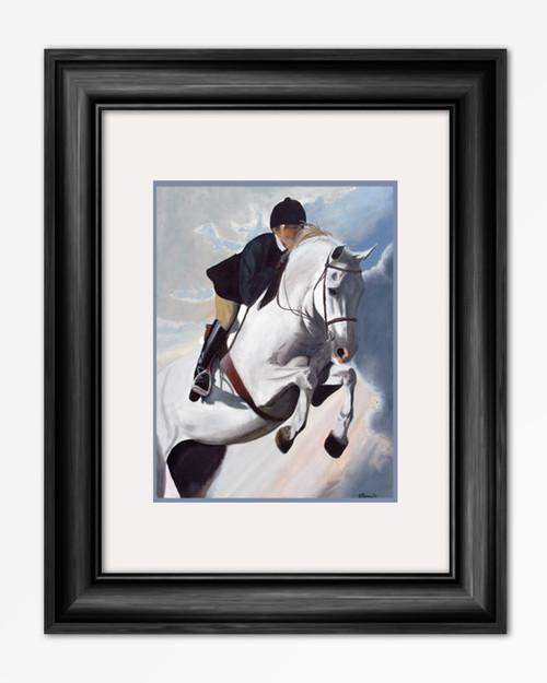 Hunter Jumper Horse Equestrian painting art reproduction print.