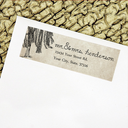 Weeping willow tree return address labels
