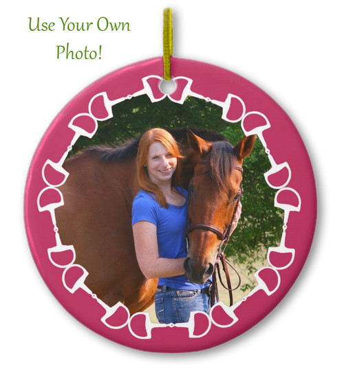 Equestrian Horse Bit photo template Christmas Ornament