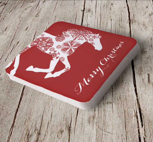 Equestrian paper coaster for Christmas parties