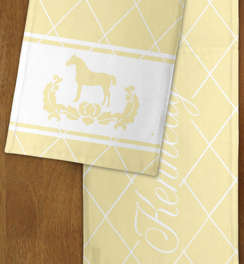 Classic Equestrian themed personalized Table Runner