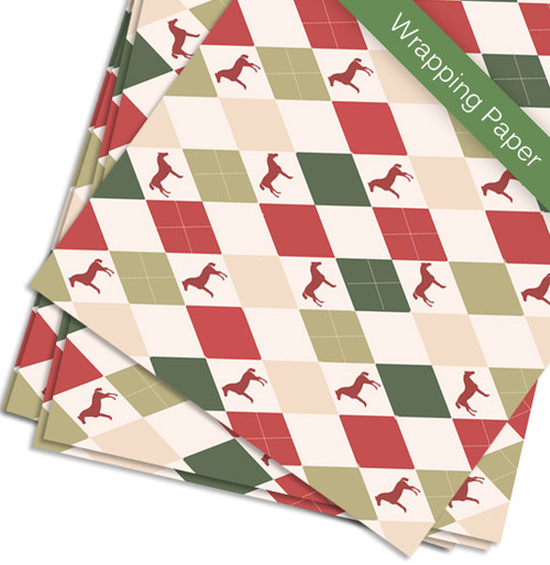 Harlequin Horse Christmas Gift Wrapping Paper