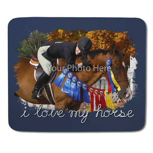 I Love My Horse Personalized Mousepad