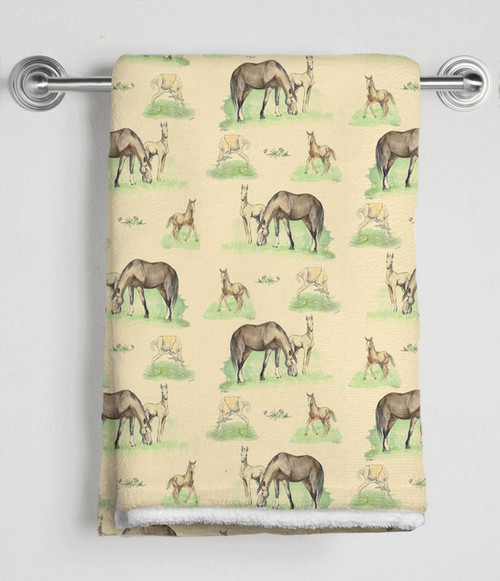 Mare and Foals Equestrian Bath Towel
