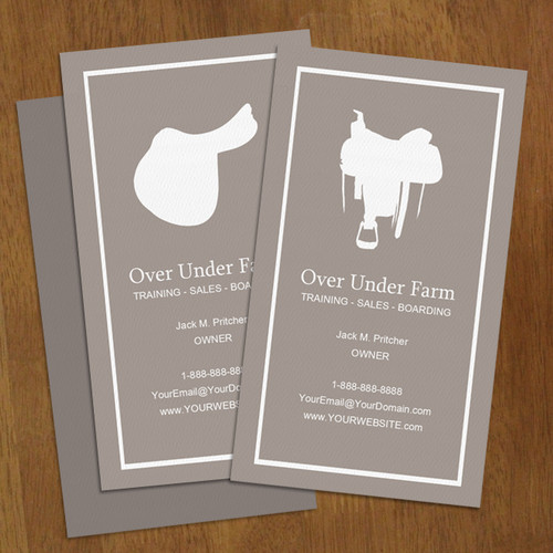 English or Western Horse Business Card