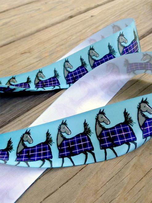 satin equestrian horse ribbon