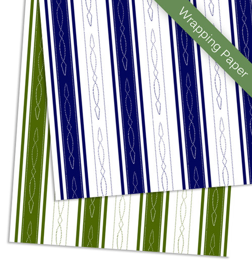 Horse bridle pattern striped equestrian birthday party gift wrapping paper