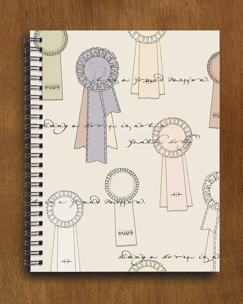 Horse Show Ribbons Spiral Notebook